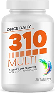310 Nutrition Multivitamin | Made from Fruits and Vegetables | Essential Multivitamins and Multimineral Supplement for Men and Women | Contains Vitamins, Probiotics, and Our Proprietary Greens Blend