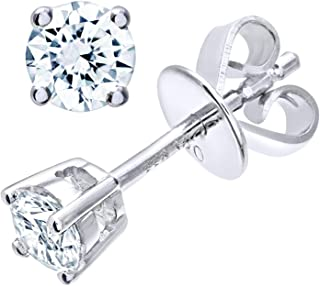 9024fa774 Naava Platinum Stud Earrings, H/SI Certified Diamonds, Round Brilliant