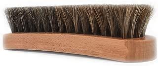 [物語] 靴磨きブラシ 100%天然馬毛ブラシ 16×5×3cm 靴磨き ブラシ 靴ブラシ 革靴 手入れ シューズブラシ