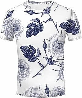 3D Print T Shirt Love Rose Flower Men Women Couple Fashion Graphics Tees