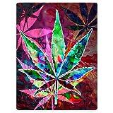 TSlook Flannel Fleece Blanket Throw Lightweight Cozy Plush Blankets Marijuana Leaves Cannabis 60' x 80'