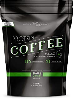 Complete Nutrition Maine Roast Coffee Flavored Protein Shake, No Added Caffeine, Whey Protein Powder/Colombian Coffee, Low Carb, Keto Friendly, 16.8 Oz Pouch, 15 Servings