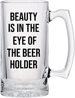 Beer Glasses-Craft Beer Glasses-Customized Beer Mug (24 oz) Classic Style Beer Cup,