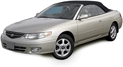 Compatible With Toyota Solara Convertible Soft Top & Heated Glass Window 1999-2003 Stayfast Cloth (Black)