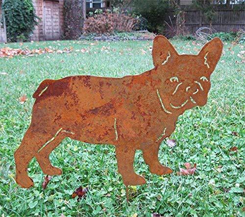 French Bulldog Garden Stake or Wall Hanging, Dog Memorial, Garden Art