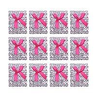 dailymall 12個入 花柄 段ボール紙 ジュエリー ギフトケース かわいい ちょう結び ラッピング 箱 贈り物 - ローズレッド
