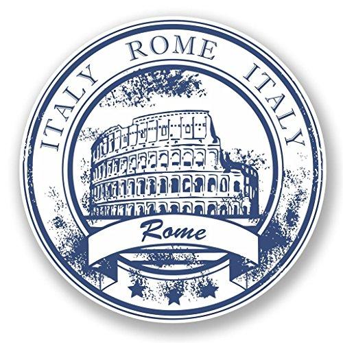 2 x 10cm/100 mm Italia Roma Etiqueta autoadhesiva de vinilo adhesivo portátil de viaje equipaje signo coche divertido #5928