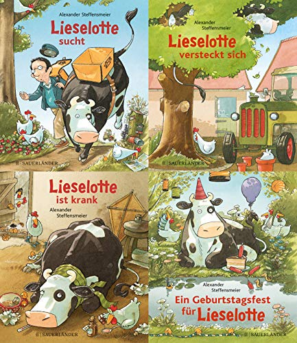 Lieselotte Minibroschur 4er-Set: 4x1 Exemplar: Ein Geburtstagsfest für Lieselotte. Lieselotte ist krank. Lieselotte sucht. Lieselotte versteckt sich