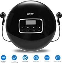 Compact CD Player with Disc, Portable Personal CD Player with Earbuds/LCD Display/USB Power Adapter, Compact CD Portable Player with Electronic Skip Protection and Anti-Shock Function, Black
