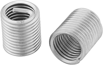 60Pcs Assortimento di inserti filettati in acciaio inossidabile metrico M3 M4 M5 M6 M8 M10 M12, kit di inserti di riparazione filettatura tipo Helicoil