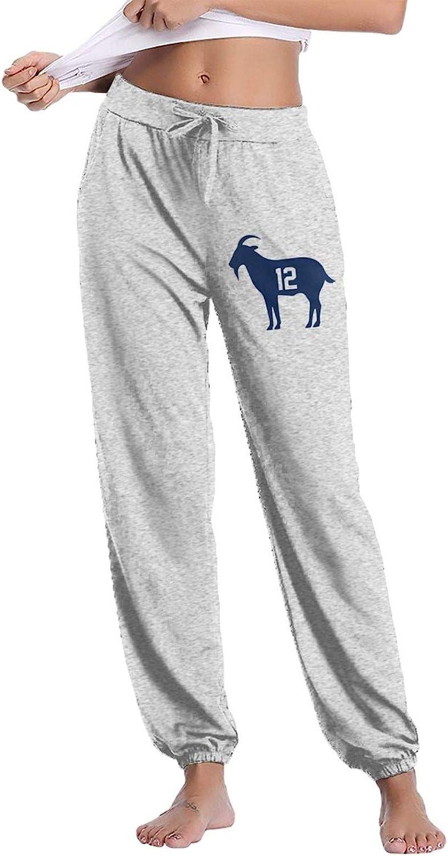 Brady Tb12 Goat Women's Casual Pants Lounge Long Sweatpants Basic Drawstring Trousers with Pockets