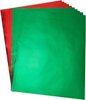 Hygloss Products Metallic Foil Paper Sheets – 10 x 13 Inches, Red and Green Sheets, 5 of Each Color