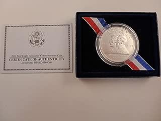 2003 P Commemorative First Flight Centennial Uncirculated Silver Dollar $1 Mint State US Mint