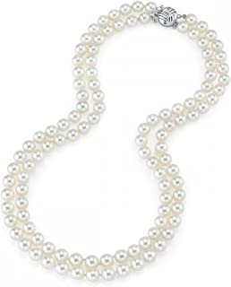 Best pearl necklace double strand Reviews