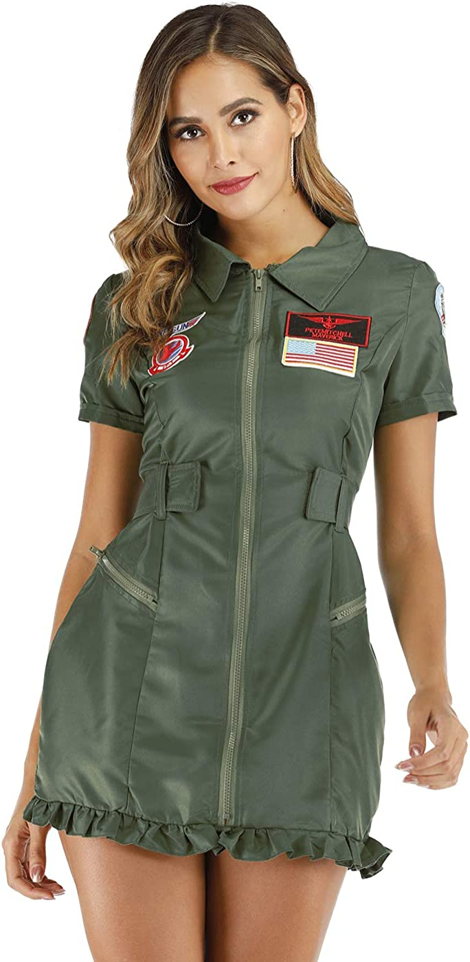 Girls Army Flightsuit Costume