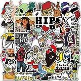 HENJIA 50 pcs drôle Hip-hop Motif DIY personnalité Doodle étanche Valise Coque de téléphone...