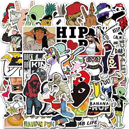 SHUYE Divertido patrón de Hip-Hop DIY Personalidad Graffiti Maleta Impermeable Funda de teléfono móvil Pegatinas de decoración de Ordenador 50 Hojas
