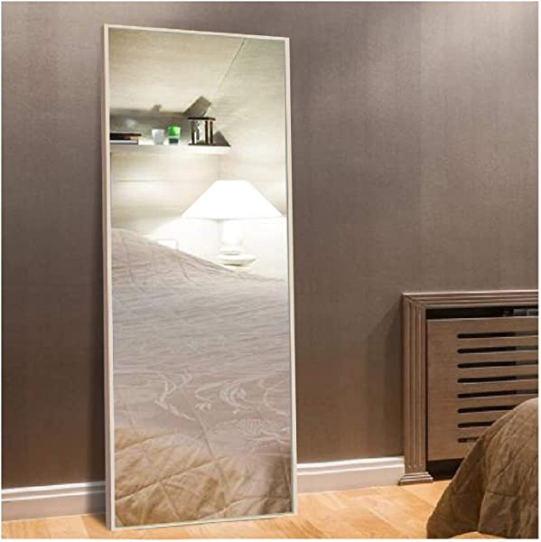 H A Full Length Large Floor Mirror 65 X24 Rectangle Wooden Finished Frame Mirror Cheval Bedroom Free Standing Mirror Dressing Mirror With Adjustable Stand For Bedroom Maple
