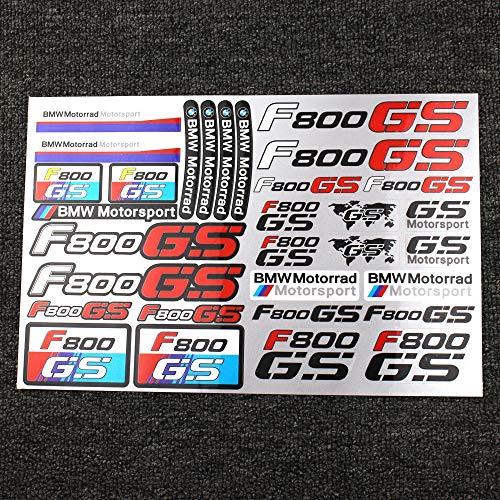 JIEWEI Nuevo cuaderno de la maleta de neumáticos impermeables de la llanta reflectante para B.m.W F800GS Adventure World MoDo Moto Logo F800GS Pegatina Para estrenar