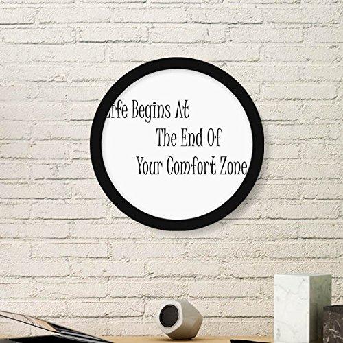 DIYthinker leven begint aan het einde van uw Comfort Zone ronde fotolijst Art Prints van schilderijen Home Muursticker Gift