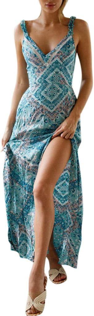 Women's Boho Back Tie Long Dress Floral Backless Popular popular Straps Printed Finally popular brand