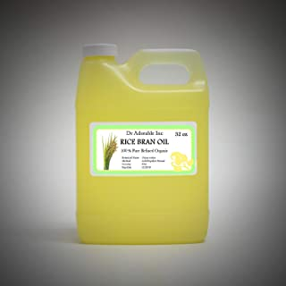 Rice Bran OIL Organic 100% Pure Cold Pressed 32 Oz / 1 Quart
