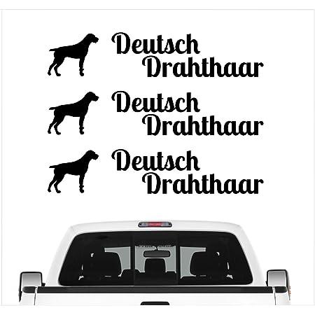Siviwonder Auto Aufkleber Deutsch Drahthaar Dd Adventure Autoaufkleber Hundemotiv Hundeaufkleber Autoaufkleber Hund Folie Jagdaufkleber Jagdschwarz Auto