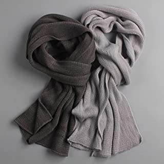 Scarves Arrived Men Scarf Knit Spring Unisex Thick Warm Winter Scarves Long Size Male Cashmere Warmer Women's Scarves YJXCUICAN (Color : Ivory)