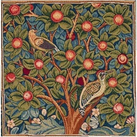 Art De Lys Woven French Jacquard Tapestry Pillow Cover Le Pic Vert The Woodpecker Green 14 Inch X 14 Inch Inspired By William Morris Imported Home Kitchen