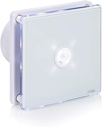 STERR – Badezimmerlüfter mit LED-Beleuchtung mit PIR Bewegungsmelder – BFS100LP