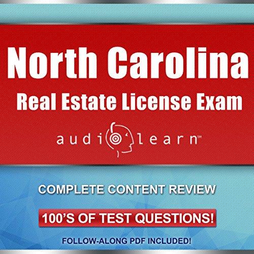 North Carolina Real Estate License Exam AudioLearn audiobook cover art