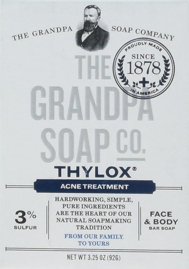 呪われた合法期待してThe Grandpa Soap Company おじいちゃんのSOAP、THYLOXにきびTRTMNT、3.25 OZ、6パック