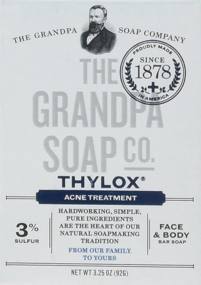 ごめんなさい花婿補うThe Grandpa Soap Company おじいちゃんのSOAP、THYLOXにきびTRTMNT、3.25 OZ、6パック