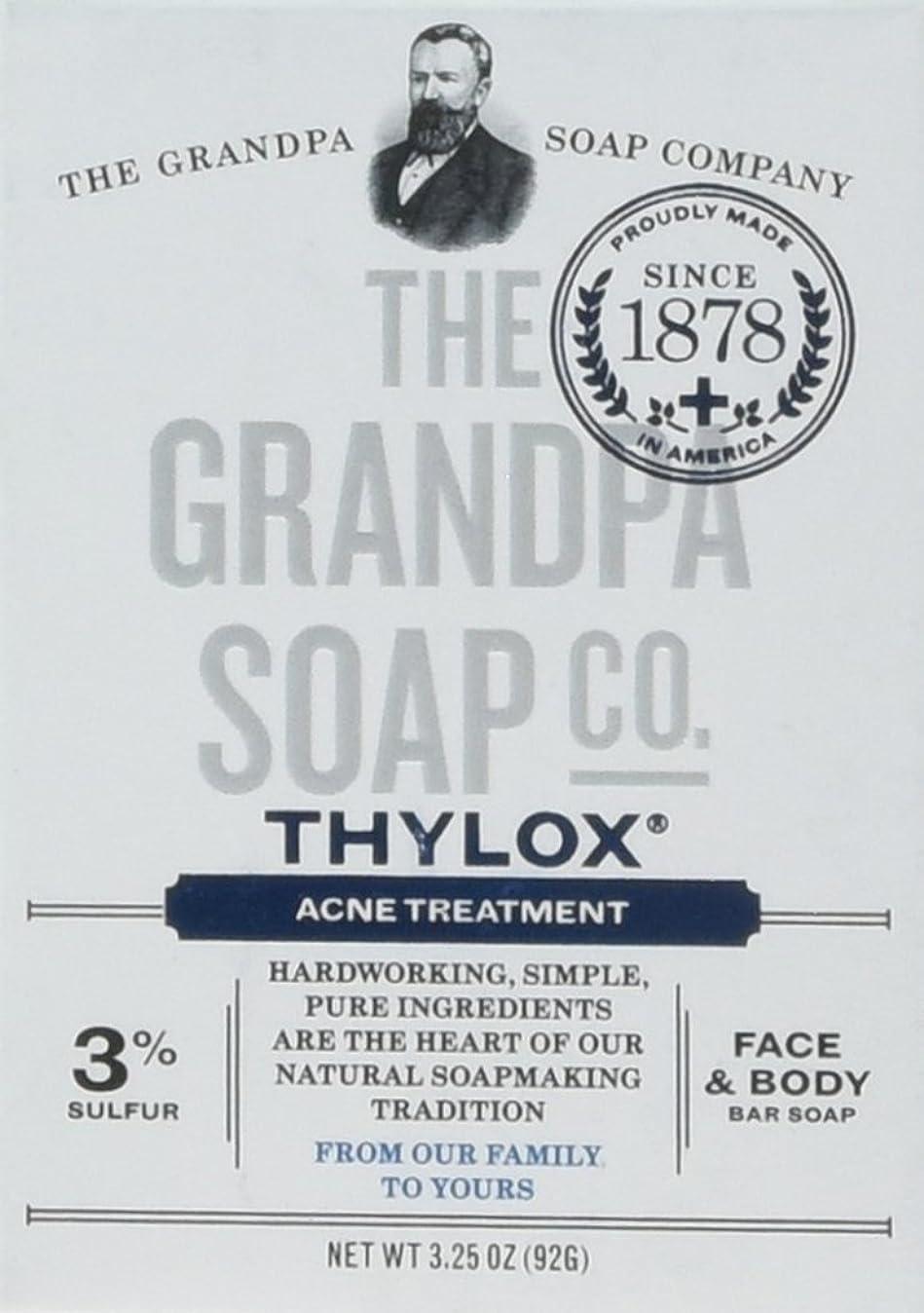 状況怠感バンガローThe Grandpa Soap Company おじいちゃんのSOAP、THYLOXにきびTRTMNT、3.25 OZ、6パック