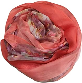 Polyester Orange Scarf Lightweight Sunscreen Ladies Oversized Scarf Shawl,Perfect Accent to Any Outfit (Color : Orange, Size : 180 * 145cm)