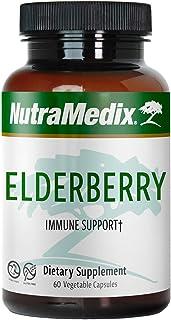 NutraMedix Elderberry Capsules - Elderberry Fruit Extract for Immune & Antioxidant Support - Sugar-Free & Gluten-Free (60 ...