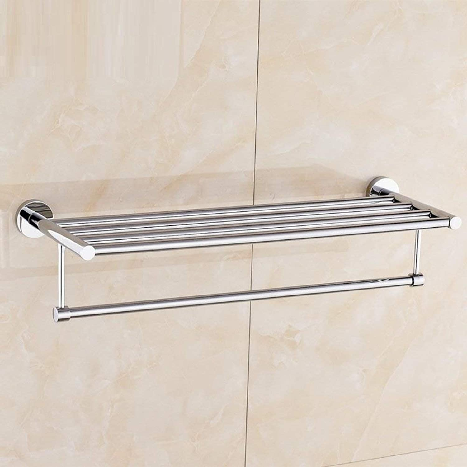 Bathroom Top of Range Dry-Towels Stainless Steel Flat Products, The Plating, Drilling, The Inssizetion and The Renovation of bathrooms of The Hotel Home Dry-Towels,Silver,Length 60cm