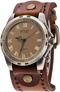 Women Quartz Watch,Luxury Shiny Women Watch Crystal Rhinestone Diamond Watches Ladies, CCQ Vintage Roman Numerals Women PU Strap Alloy Wristwatch (Light Coffee)