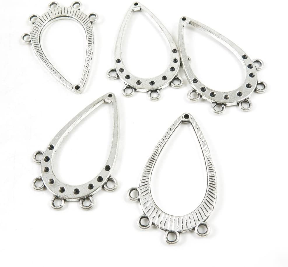 Price per 55% OFF 130 Pieces Silver Tone Supply E3 Cheap sale Making Charms Jewelry