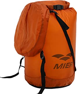 MIER Waterproof Compression Stuff Sack Ultralight Cordura Nylon Dry Bag for Backpacking, Kayaking, Camping, Outdoor Sports, 5L, 10L, 15L, 20L, 25L