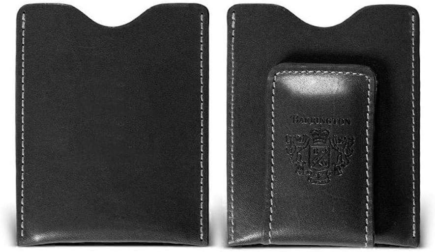 Barrington Florentine Leather Money Personalizatio Black 日本未発売 Clip アウトレット☆送料無料