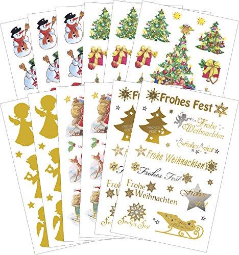 AVERY Zweckform Art. 59817 Aufkleber Weihnachten 181 Weihnachtssticker (Aufkleber, Weihnachtsmann, Goldengel, Schneemann, selbstklebend, Deko Weihnachten, Weihnachtspost, DIY)