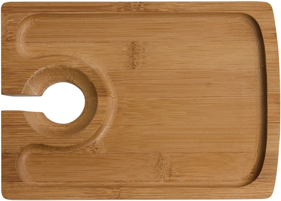 Oenophilia Bamboo Hors d' Oeuvres Plate - Set of 4, 1.8 x 8.5 x 6.5 inches