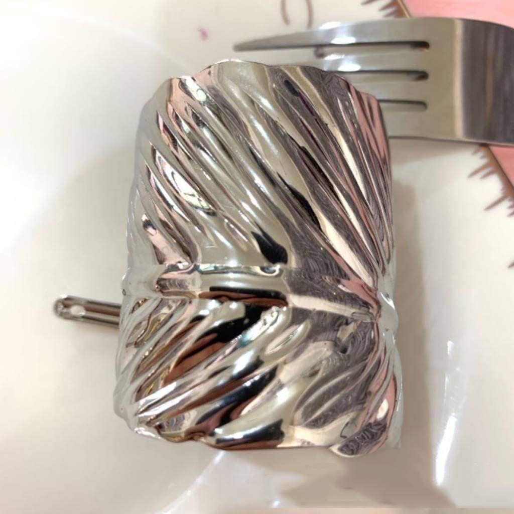 DJASM 12PCS Napkin Rings Leaf Button for free New life Christmas Metal