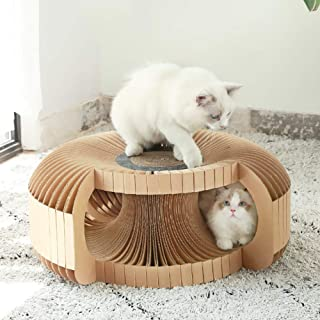 Cat Scratch Board,Cat Tunnel, Corrugated Cat Channel, Cat Toy Paper Cat Nest, DIY Assembled Cat Scratch Board, Pet Supplies