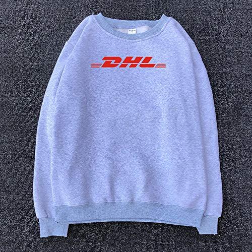 AOSHE Ropa de Hombre Cuello Redondo y suéter de Marca Velvet TideVestido De Sudadera Pullover Vestidos De NiñAs Lindos De Bolsillo De Manga Larga