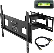 Fleximounts 32-70 Inch Articulating Full Motion Swivel Tilt TV Wall Mount Bracket 18 Inches Arm Max VESA 600x400mm 132 lbs with 10ft HDMI Cable