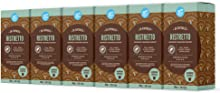 Marchio Amazon - Happy Belly Ristretto Caffè tostato e macinato in capsule, in alluminio, compatibili Nespresso, 120 capsule (6x20) - Rainforest Alliance