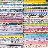 N A 50 piezas de tela de algodón 100% algodón Patchwork 30 x 30 cm tela cuadrados telas paquete de tela aleatoria patrón para DIY costura artesanía decoración, algodón, multicolor, 25p 30x30cm