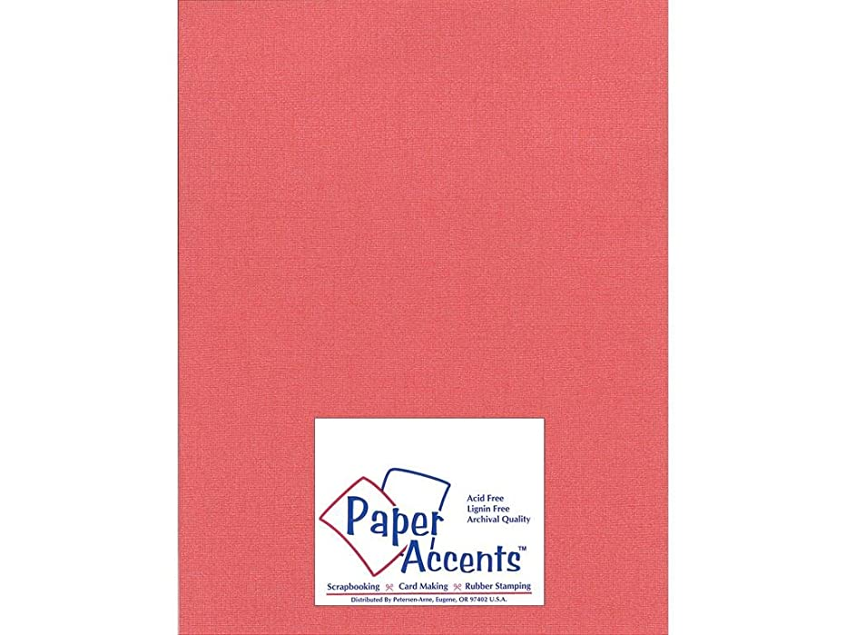 Accent Design Paper Accents Cdstk Glimmer 8.5x11 80# Imperial Red